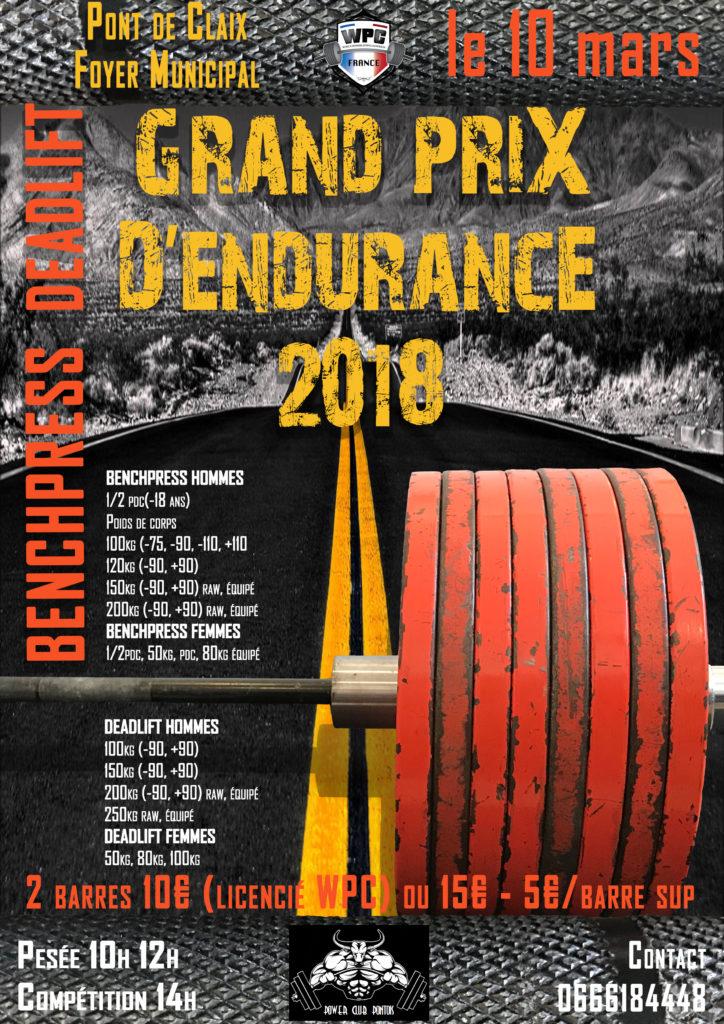 Affiche 100kg pont de claix wpc france 2018
