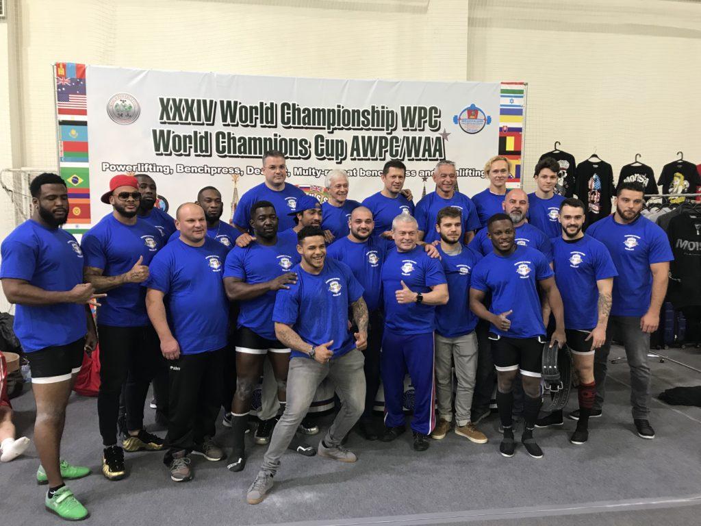 Championnat monde WPC 2017 Moscou sélection france