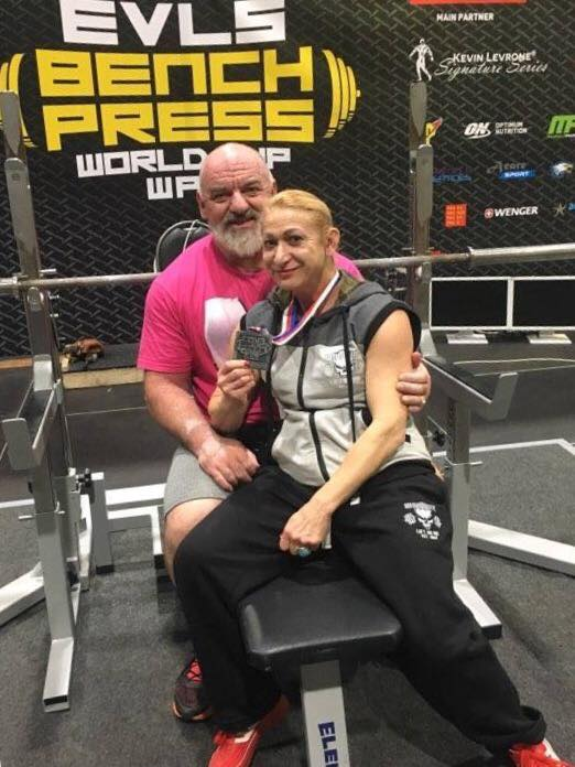 Didier Michelon Larisa powerlifting couple WPC France