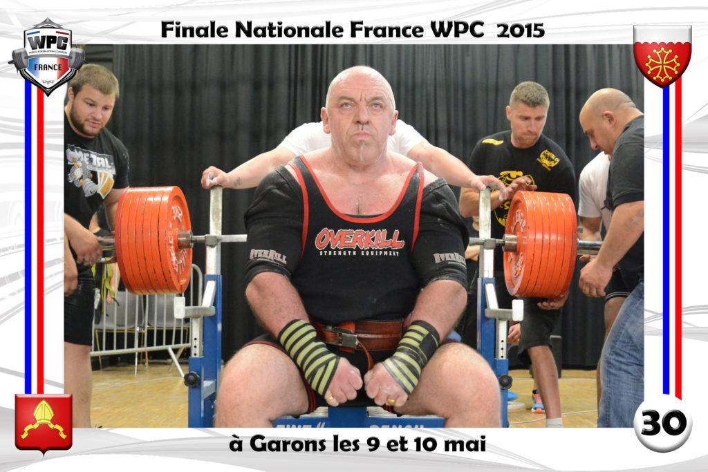 Didier Michelon benchpress WPC France