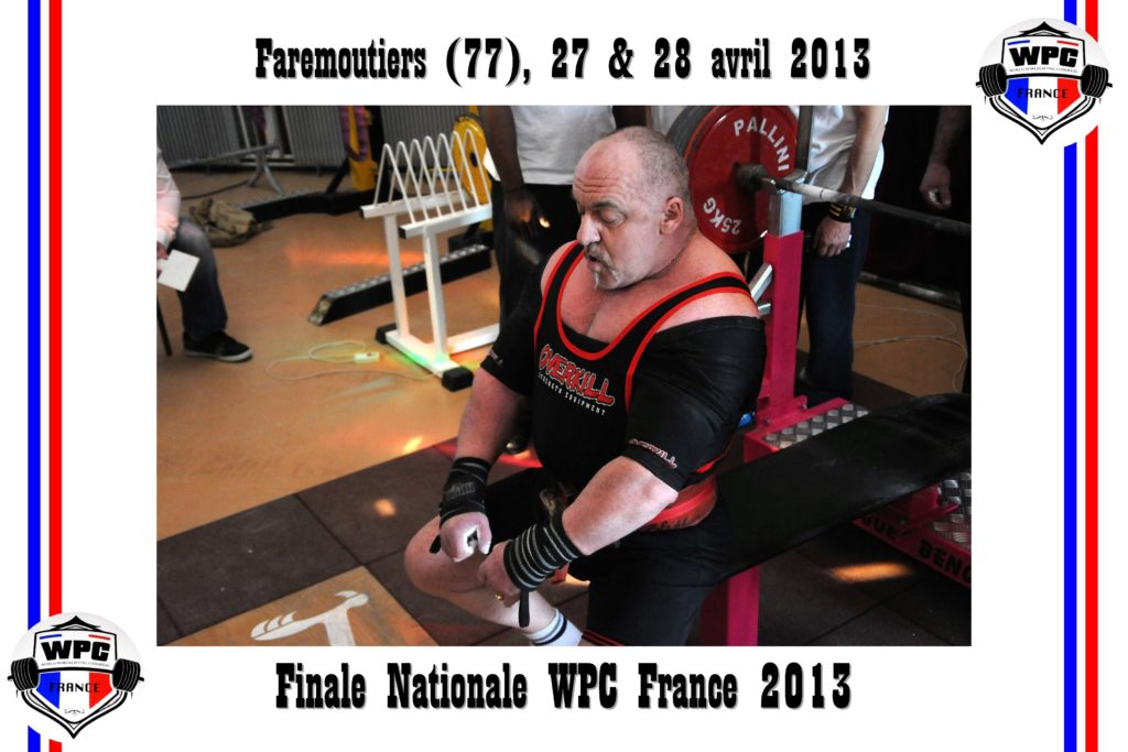 Didier Michelon benchpress concentration WPC France