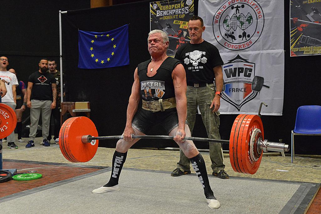 Didier Theux deadlift WPC France