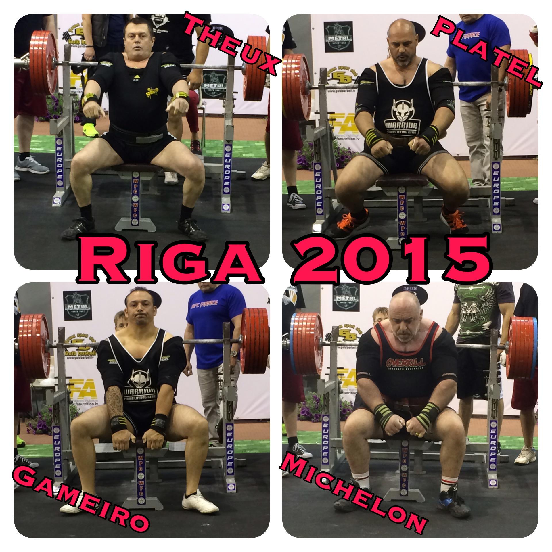 Europe 2015 Riga benchpress wpc france