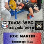 Fiche MARTIN Jose wpc france 2018