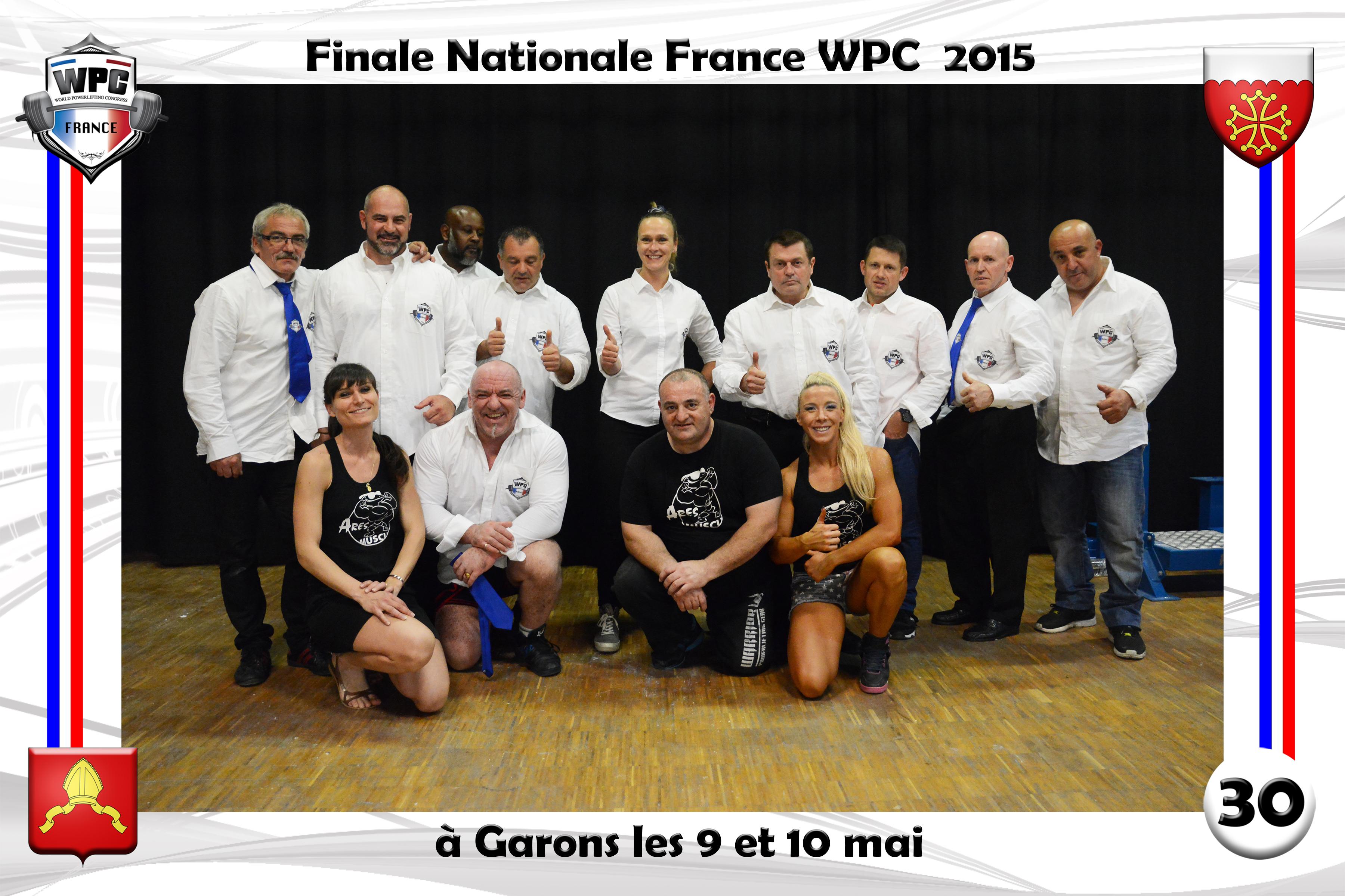 Finale France 2015 Garons  comité WPC France