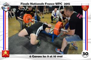 Finale wpc France 2015 Garons bench romuald Masse
