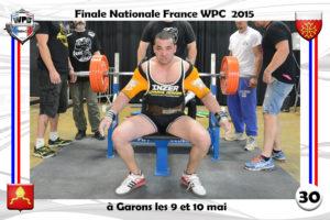 Finale wpc France 2015 Garons bench valentin cacici