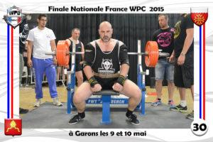 Finale wpc France 2015 Garons bench platel eric