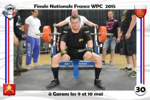 Finale wpc France 2015 Garons bench theux didier
