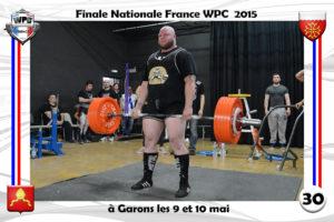 Finale France 2015 Garons deadlift cyril Boujuau wpc france