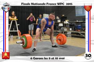 Finale France 2015 Garons deadlift Joe Rossi wpc france
