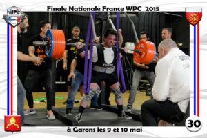 Finale France 2015 Garons squat eric Athias wpc france