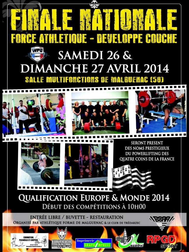 affiche finale france wpc 2014 malguenac