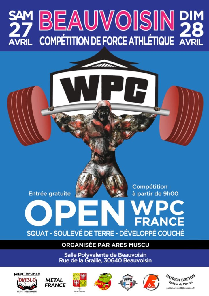 affiche open wpc france 2019 Beauvoisin