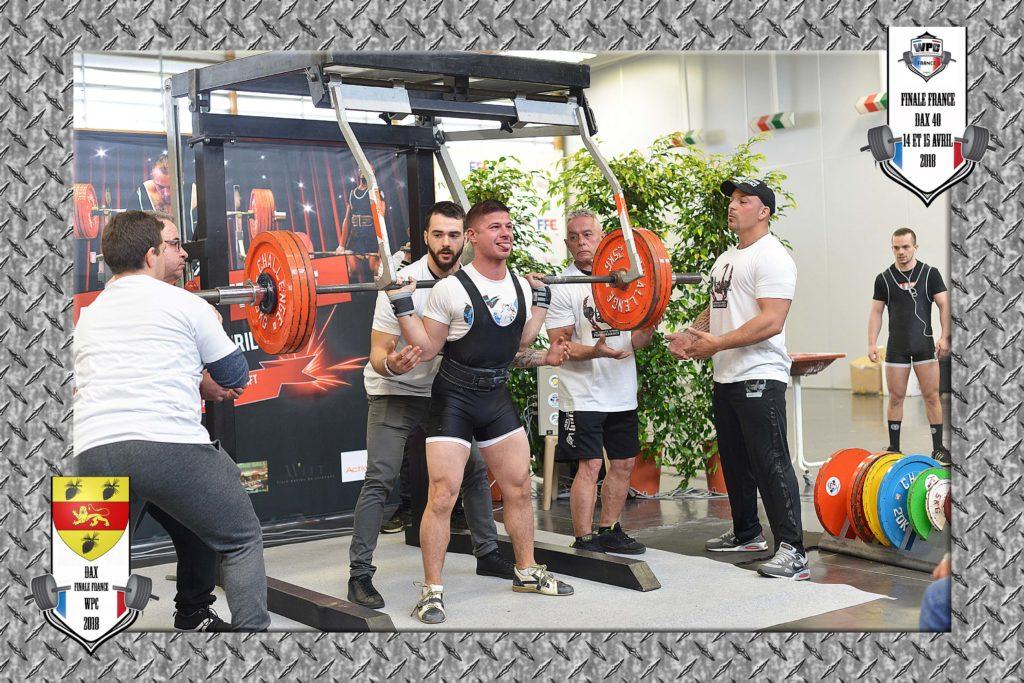 Johann champ wpc france open dax 2018 squat