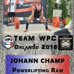 Fiche CHAMP johann wpc france 2018