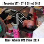 Finale wpc france faremoutiers 2013 michel fauque